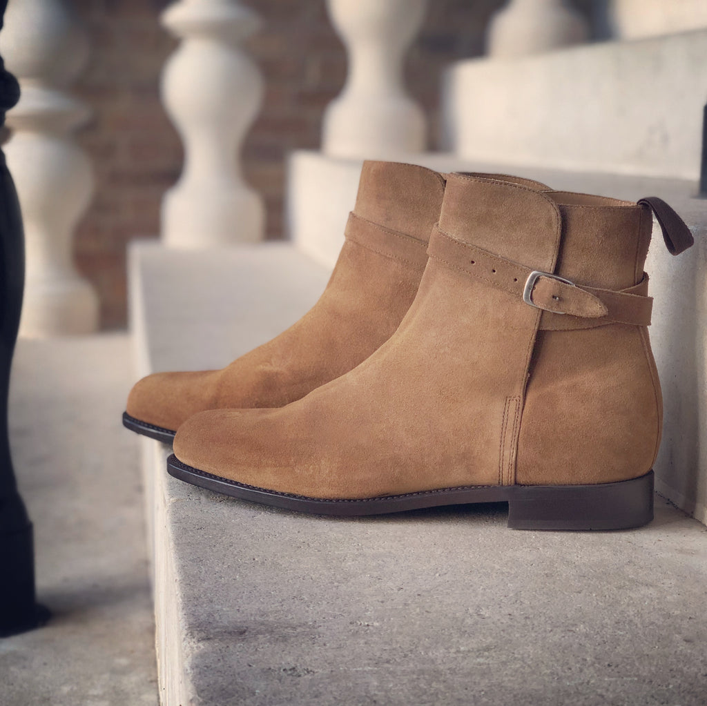 hugs and co suede jodhpur boots