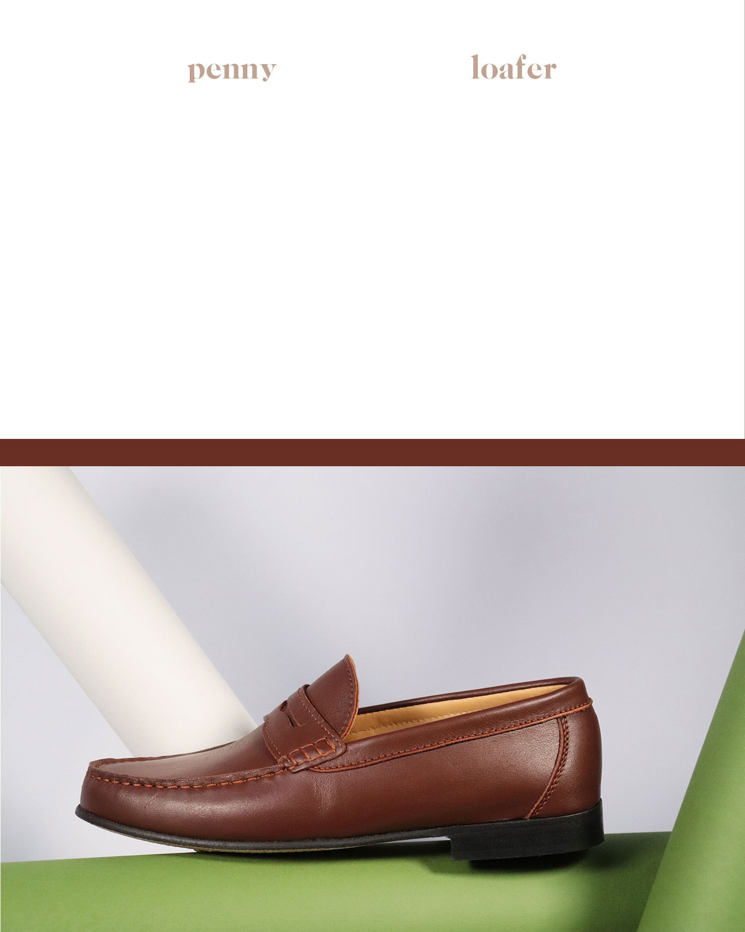 Hugs & Co. leather penny loafer