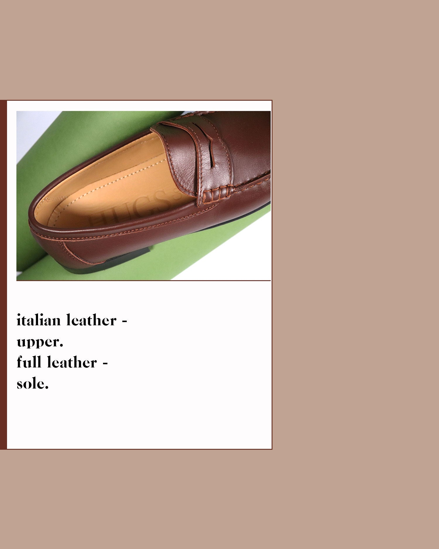 Hugs & Co. men's leather penny loafers