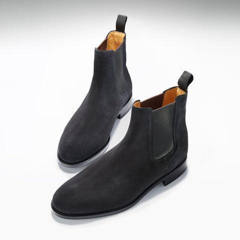 hugs and co chelsea boots black suede