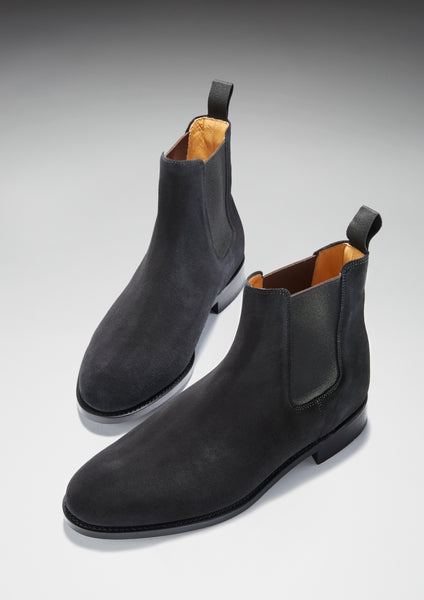 black suede chelsea boots hugs and co