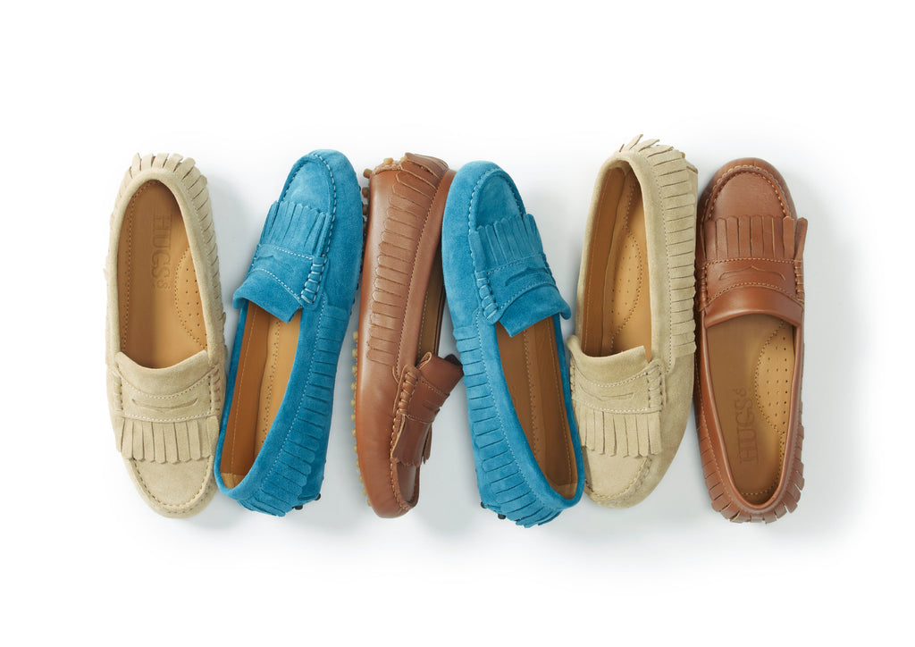 Hugs and co fringed loafers for women