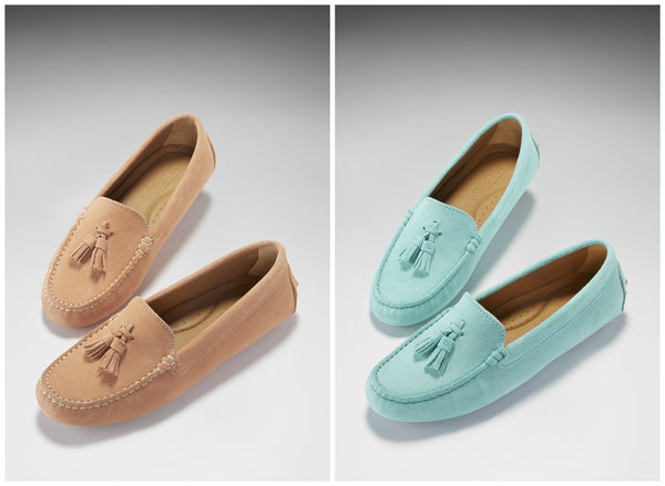 hugs and co women's suede driving loafers