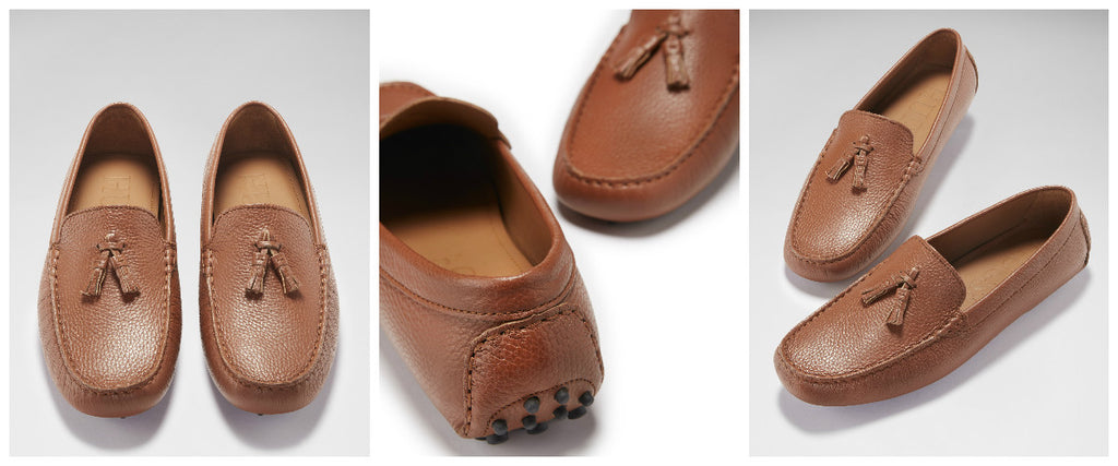 hugs and co tasselled loafer tan leather