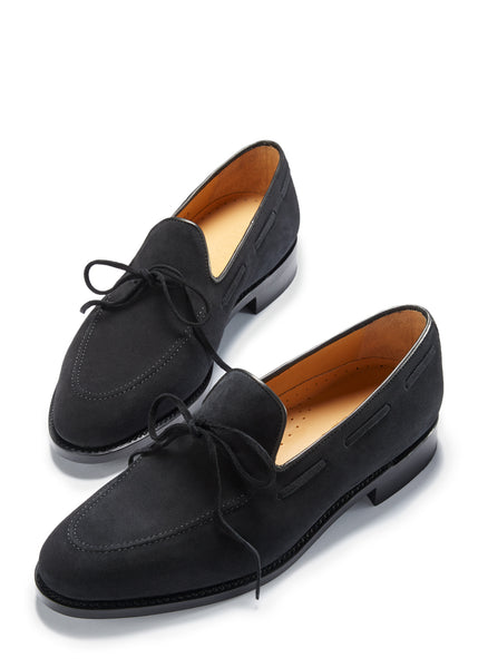 Hugs & Co. black suede loafers