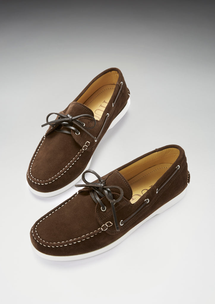hugs and co brown suede deck shoes