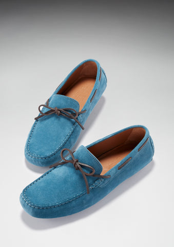 hugs and co mens laced loafer petrol blue