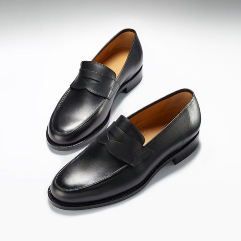 hugs and co black loafers