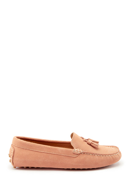 Hugs & Co. peach suede women's loafers