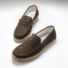 Sneaker Loafers, brown suede