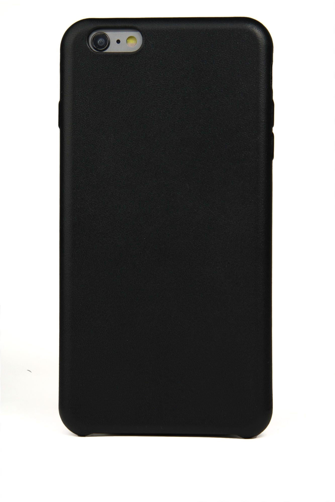 iPhone 6 Plus Case, Black Leather