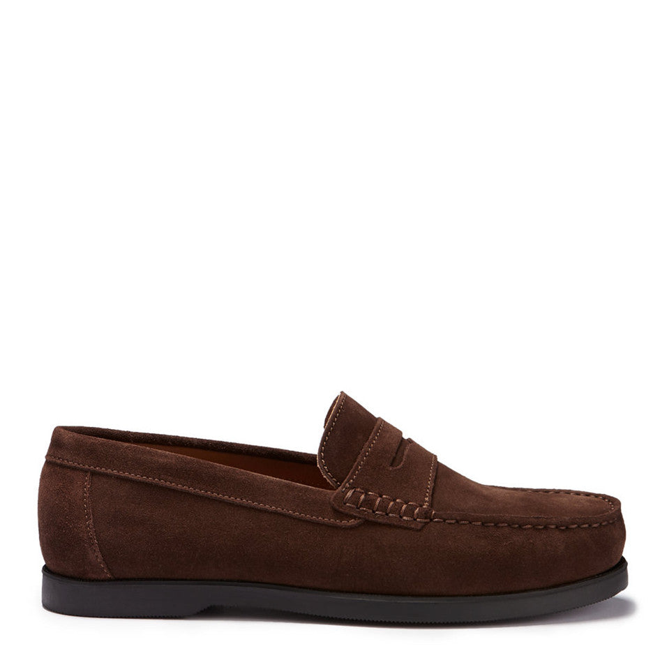 Boat Loafers, brown suede