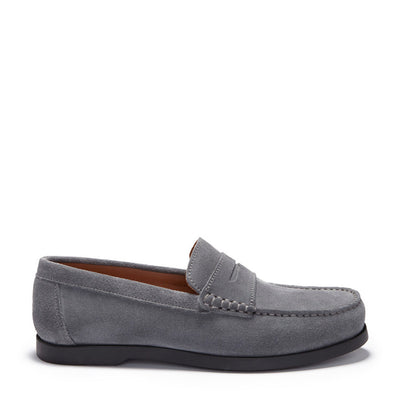 Boat Loafers, slate grey suede