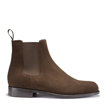 Chelsea Boots Brown Suede Side