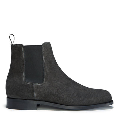 Grey Suede Chelsea Boots, Welted Leather Sole