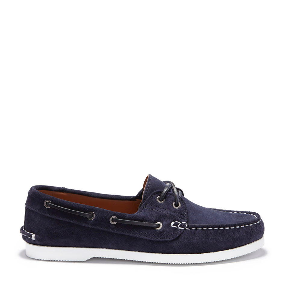 Deck Shoe Navy Blue Suede Side