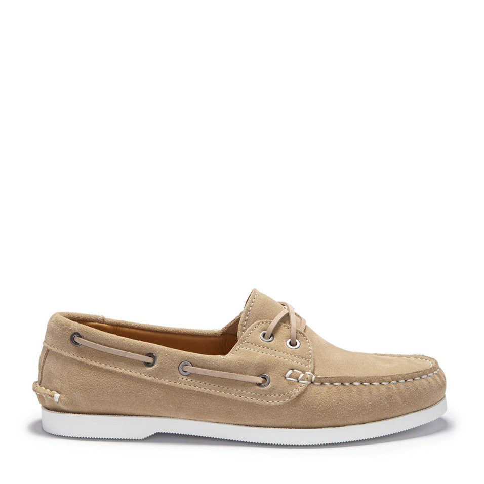 Deck Shoe Taupe Sand Suede Side