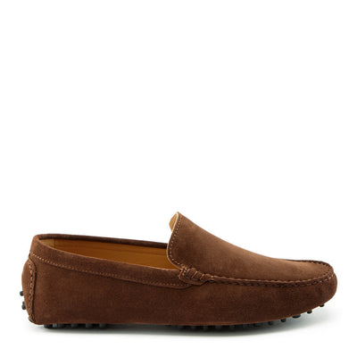 Driving Loafers Brown Suede, Side One