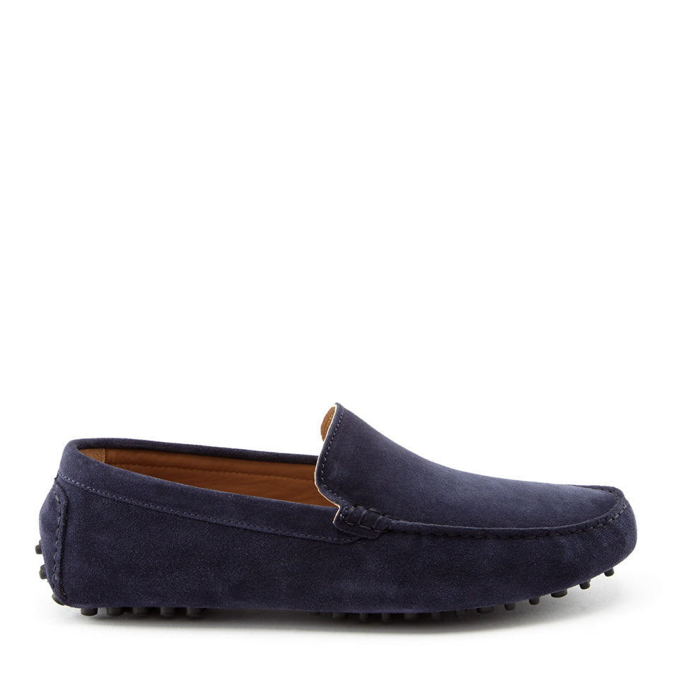 Driving Loafers Navy Suede Side One