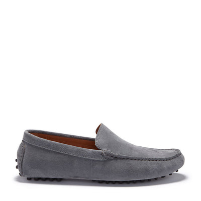 Driving Loafers Slate Grey Suede Side One