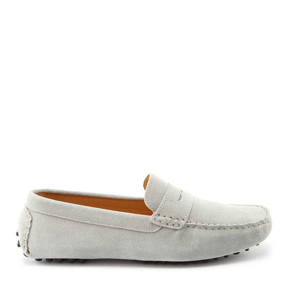 Penny Driving Loafers, dove grey suede