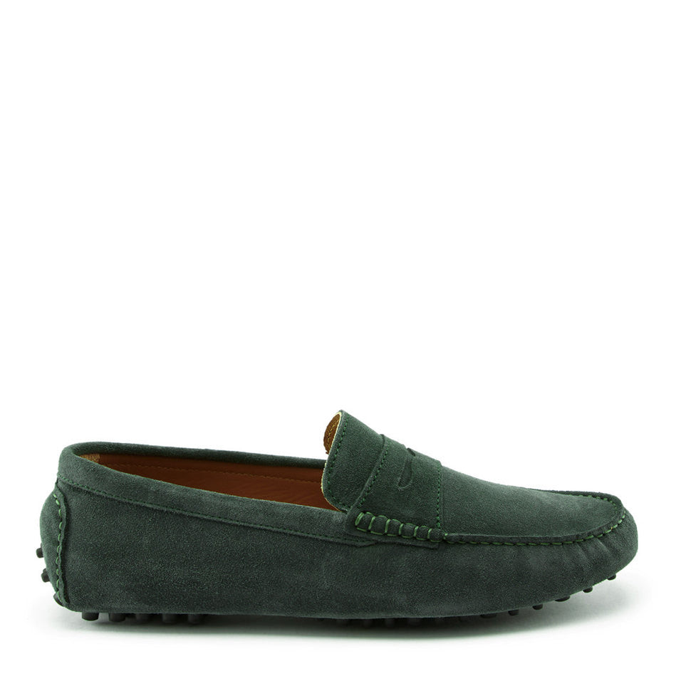 Penny Driving Loafers, racing green suede