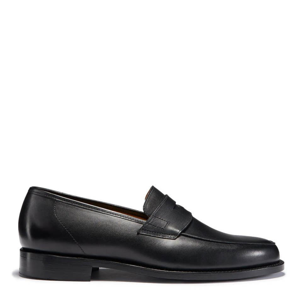 Black Leather Loafers, Welted Leather Sole