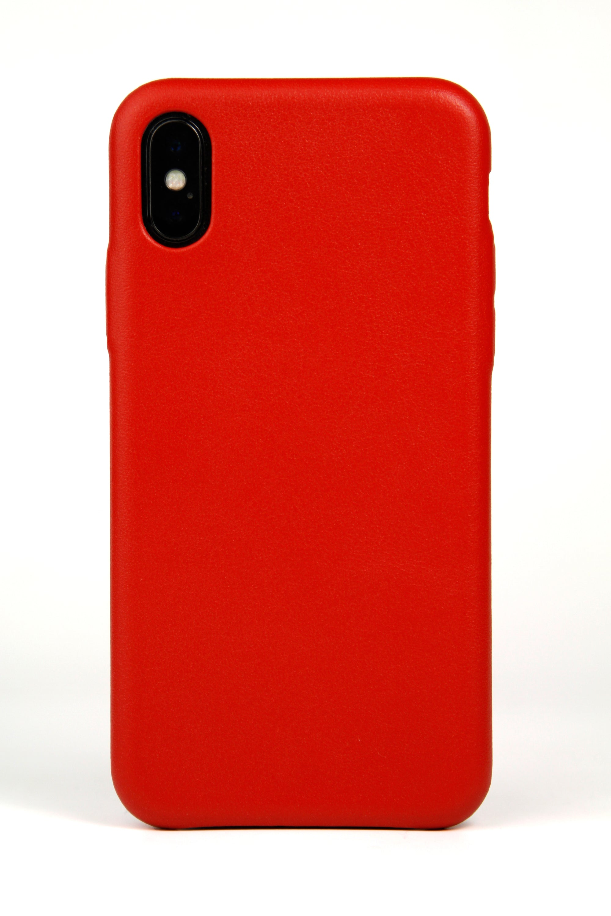iPhone X Case, Red Leather