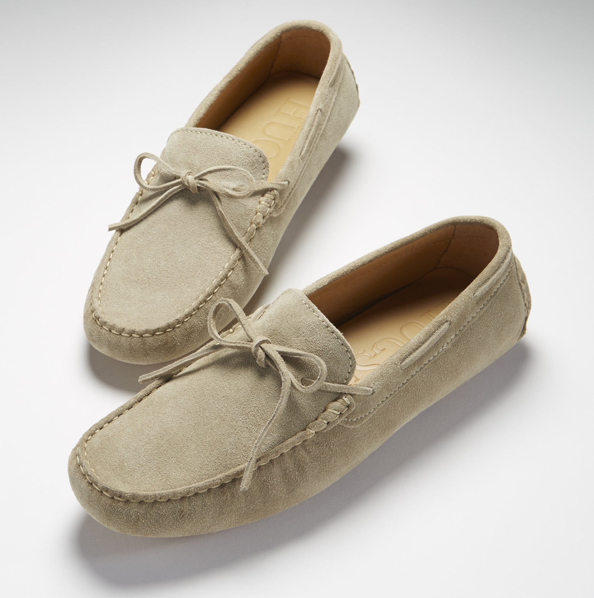 Laced Driving Loafers, sand suede