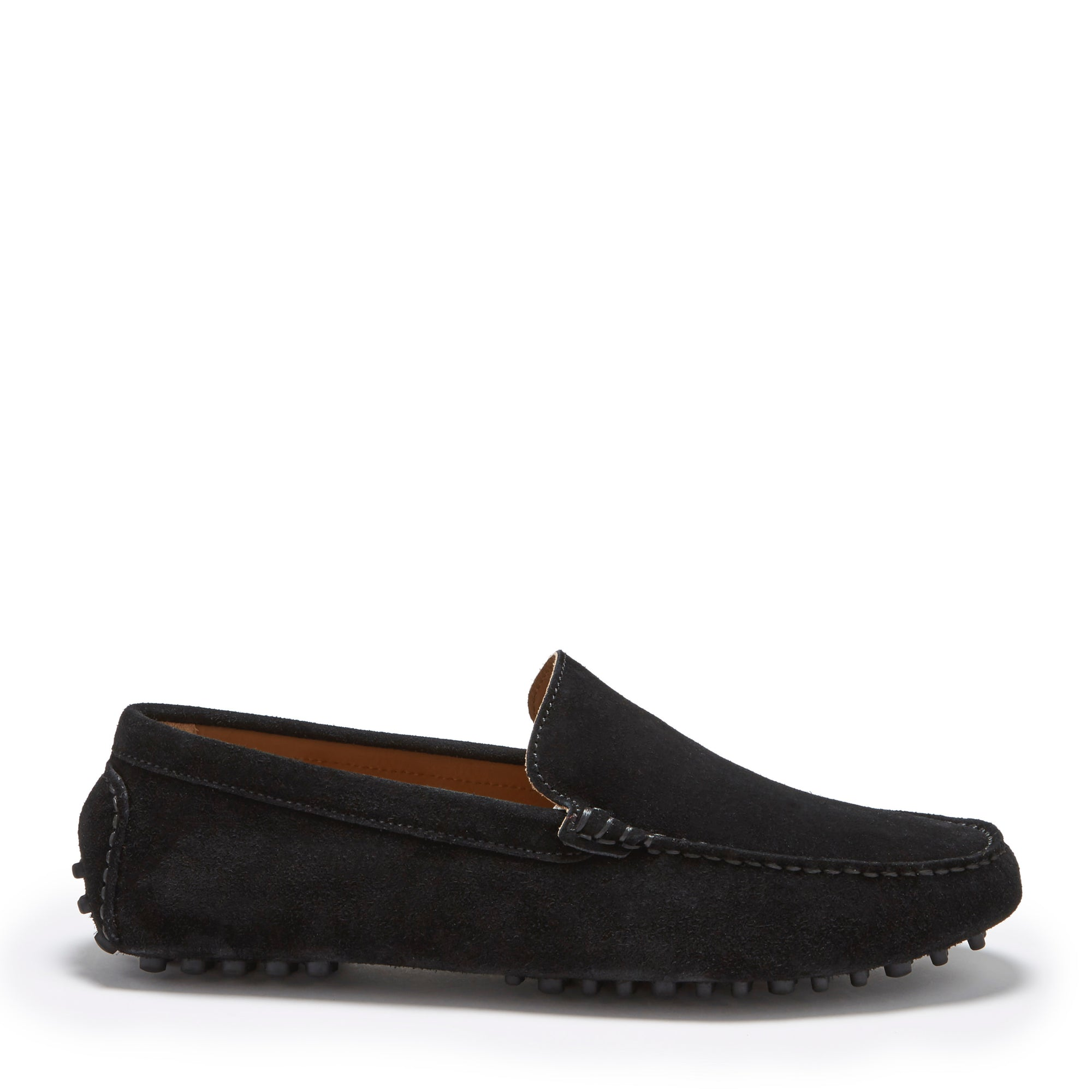 Driving Loafers, Black Suede Side