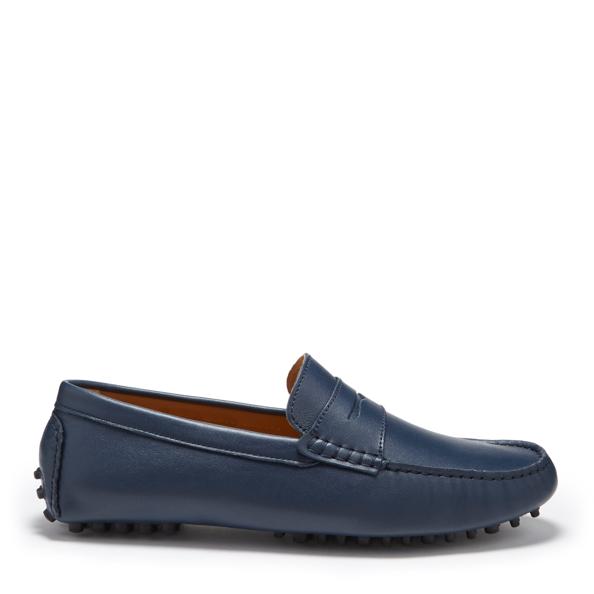 Penny Driving Loafers Blue Leather