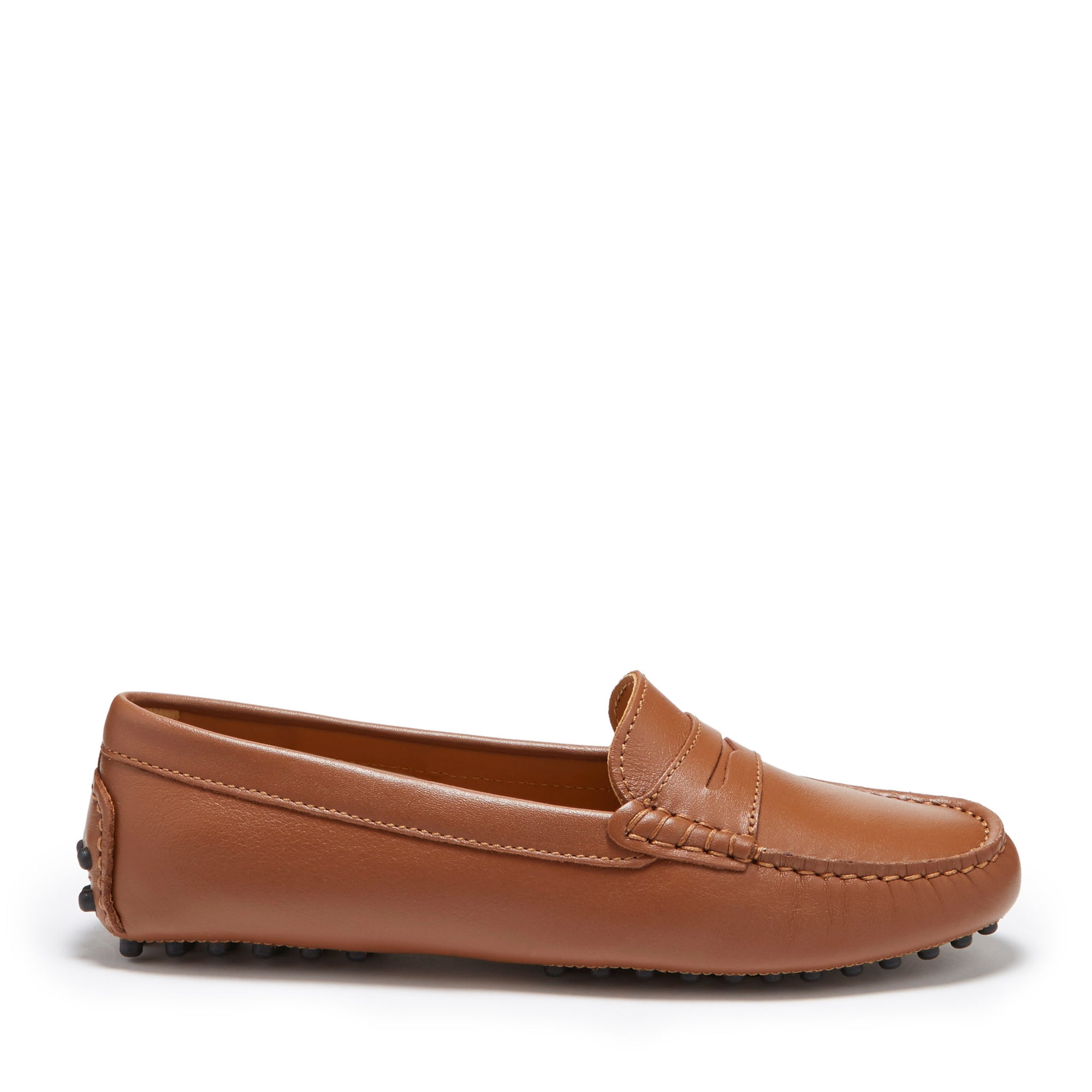 Women's Penny Driving Loafers, tan leather