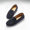 Women's Penny Driving Loafers, navy blue suede