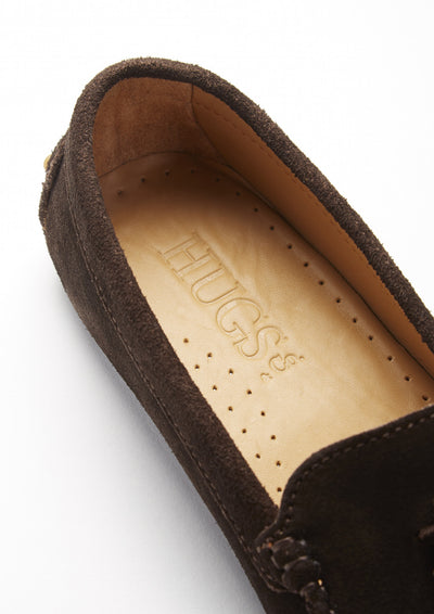 Women's Tasselled Driving Loafers, brown suede