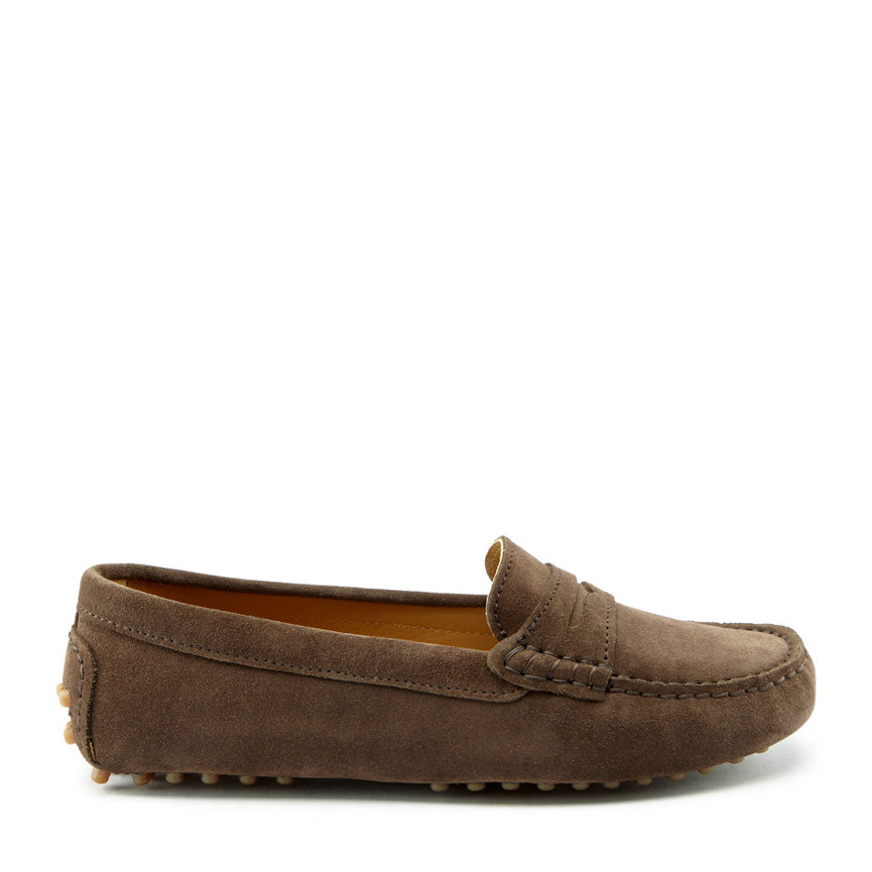 Women's Penny Driving Loafers, brown suede