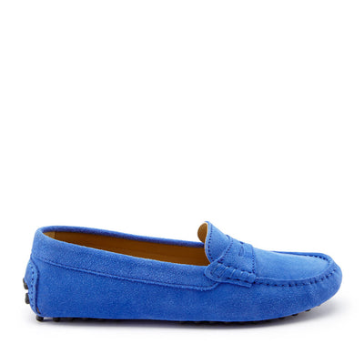 Women's Penny Driving Loafers, cobalt blue suede