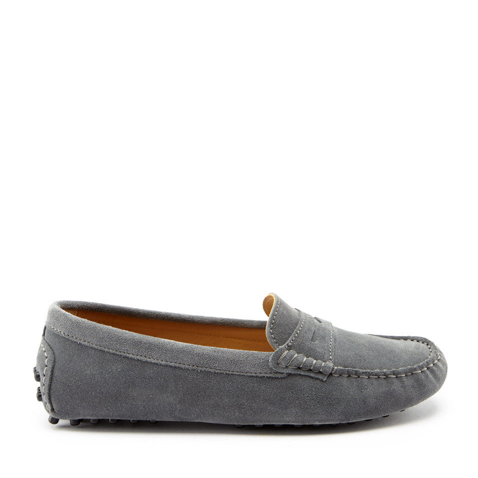 Women's Penny Driving Loafers, slate grey suede