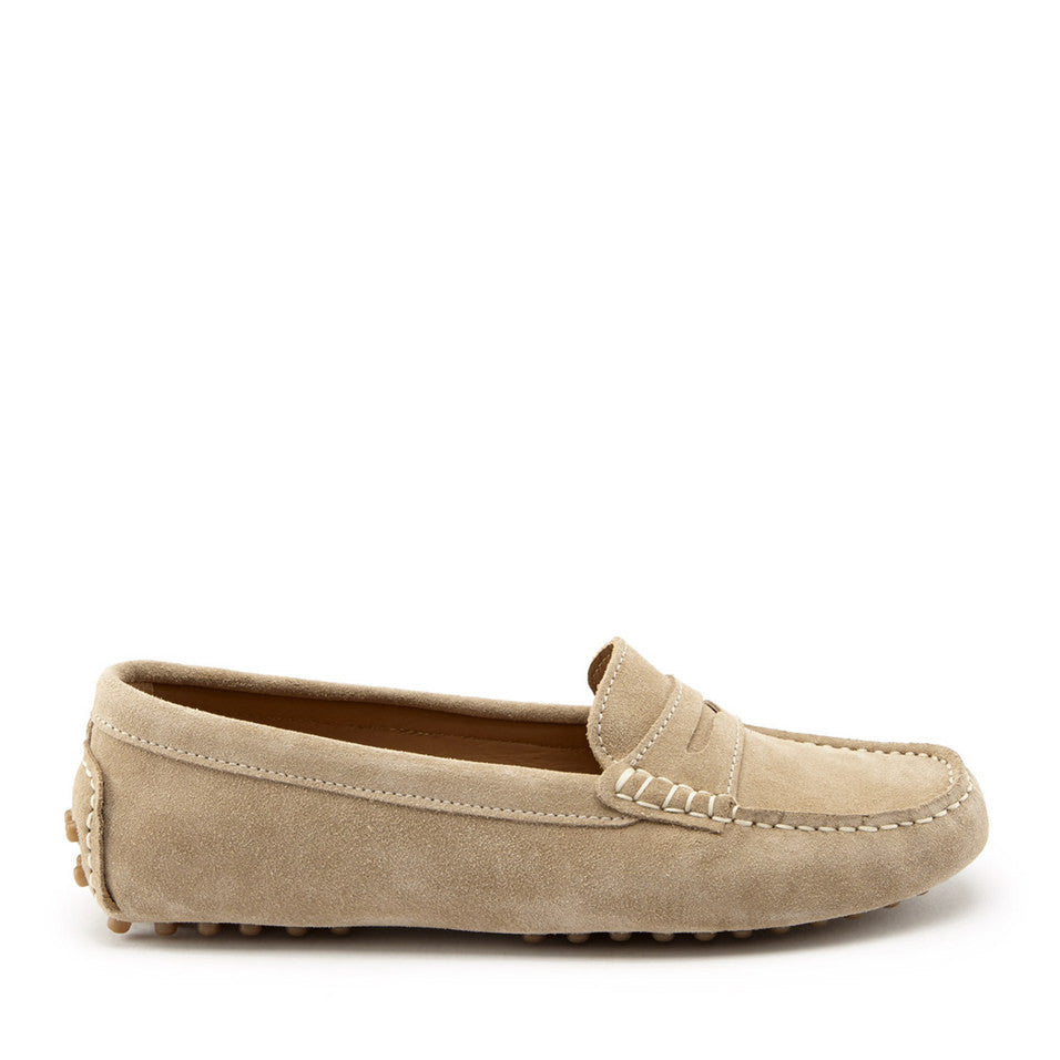 Women's Penny Driving Loafers, taupe