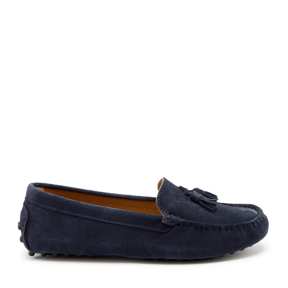 Women's Tasselled Driving Loafers, navy
