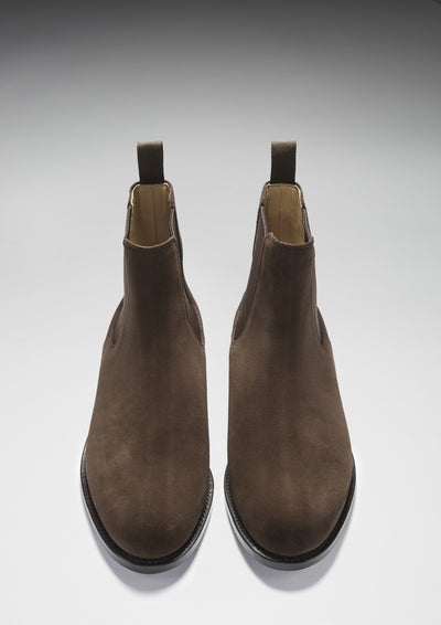 Chelsea Boots Brown Suede Front