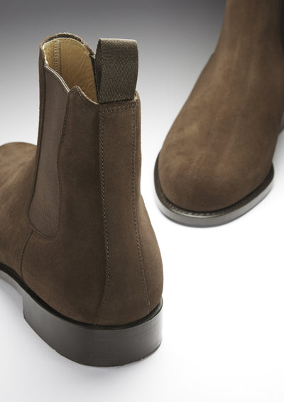 Chelsea Boots Brown Suede Front and Back