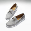 Deck Shoe Dove Grey Suede