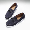Deck Shoe Navy Blue Suede