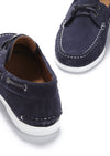 Deck Shoe Navy Blue Suede, Front and Back