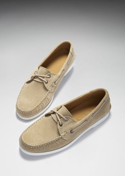 Deck Shoes, taupe suede