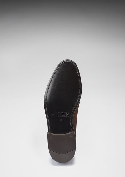 Leather Sole, Laced Loafers, Brown Suede, Goodyear Welted