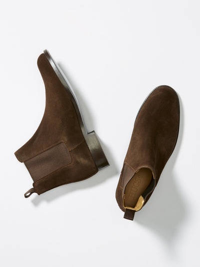 Chelsea Boots Brown Suede From Above