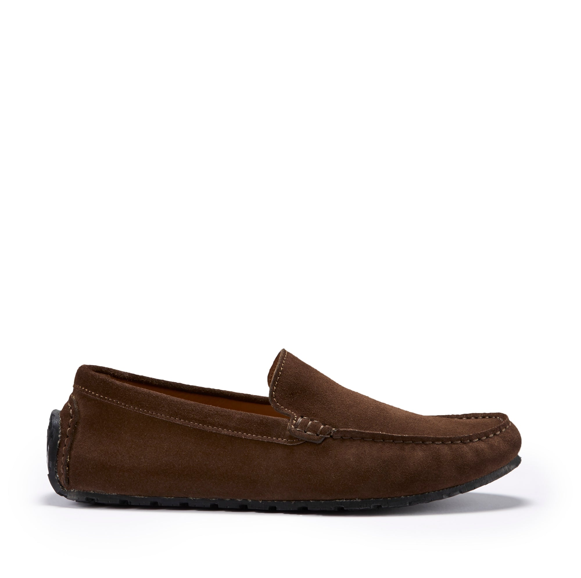 Tyre Sole Driving Loafers, brown suede