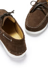 Deck Shoes, brown suede