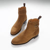 Tobacco Suede Jodhpur Boots, Welted Leather Sole